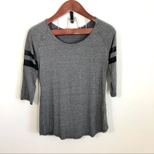 Garage Burnout Baseball Tee T-shirt 3/4 Top M